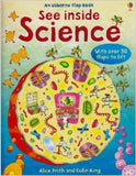 See Inside Science Usborne Flap Book with 50 Flaps to Lift