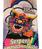 305 Inch Long WindnSun Supersized Multi-Colored Nylon Serpent Kite