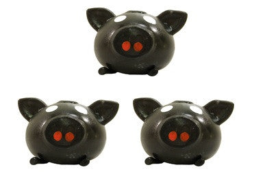 Squishy Ball Physics : Splat Ball Novelty Squishy Toy Black Pig-Pack of 3 ? Online Science Mall
