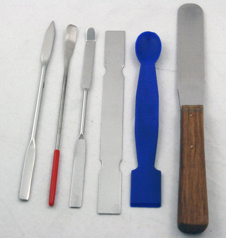 Set of 6 Spoons and Spatulas for lab use