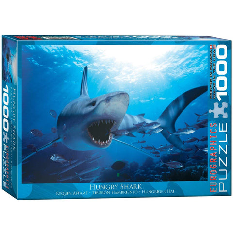 "Hungry Shark 1,000 Piece Puzzle 20"" x 27"""