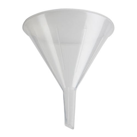 Plastic Funnels: 125mm Polyethylene Short Stem, Pack of 12