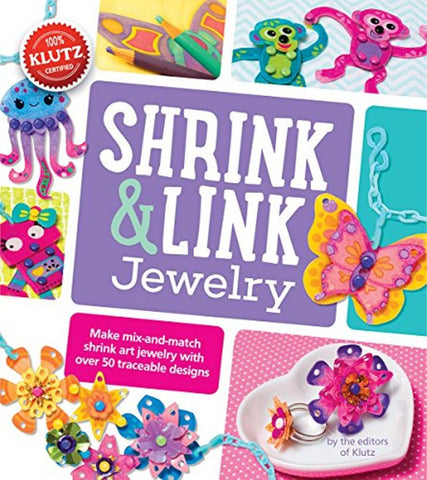 Shrink & Link Jewelry Activity & Book - Craft Kit by Klutz