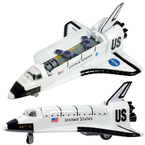 8 Inch Die Cast & Plastic Space Shuttle Pullback Toy