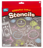 Sidewalk Chalk City Scene Stencil Set