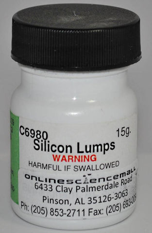 Elemental Silicon Metal Lumps, 15g - Chemical Reagent