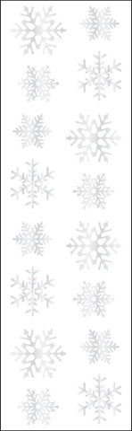 Mrs Grossman's Stickers - Silver Reflective Snowflakes