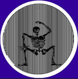 5.5 Inch Dancing Skeleton CineSpinner-Animated Suncatcher
