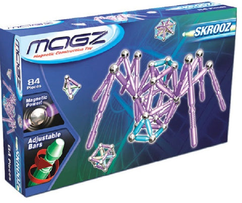 Magz Skrooz - Magnetic Construction Toy - 84 Piece Set