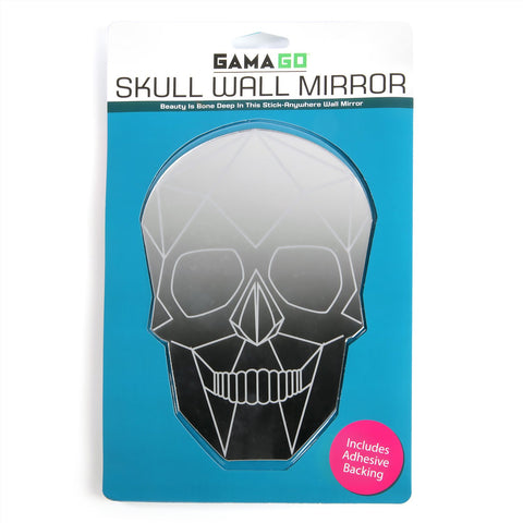 Skull Wall Mirror - Peel Off Sticky Backing