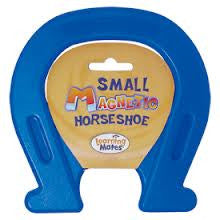 Plastic Encased  Magnetic Horseshoe 4.75 x 4.75 Inches - BLUE