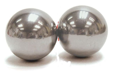 "1.5"" Steel Energy Transfer Balls w/Teacher's Guide - Smashing Steel Spheres Kinetic Energy Demonstration - Online Science Mall"