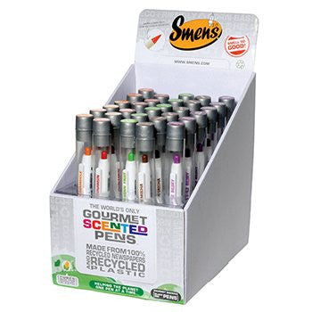 Smens - Classroom Set of 30 Gourmet Scented Pens - Made from Recycled Materials