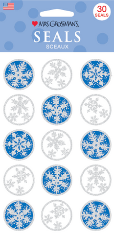 Mrs Grossman's Stickers - 30 Snowflake Seals