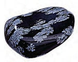 Small Snowflake Obsidian Rock Tumbled .5-1 Inch w Info Card