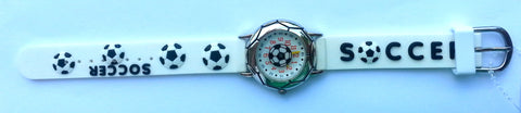 The Kids Watch Company Soccer Watch One Size White Band