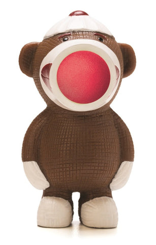 Keychain Sock Monkey Popper - Squeeze to Shoot!