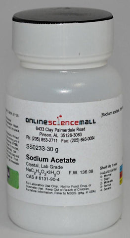Sodium Acetate, 30g - Chemical Reagent