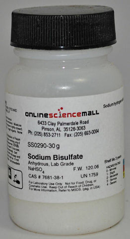 Sodium Bisulfate, 30g - Chemical Reagent