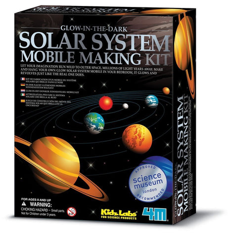 Solar System Mobile Model Making Kit Glows in The Dark by 4M