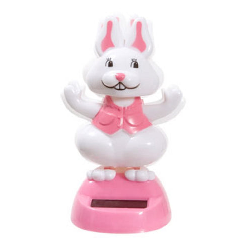 Solar Powered Dancing Easter Bunny - Pink