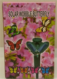 Solar Wobble Butterfly - Fluttering Garden Ornament  - Colors Vary