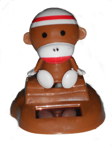 Solar Powered Nodding Sock Monkey By Toysmith