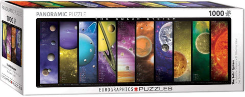 "Solar System Panoramic 1,000 Piece Puzzle 13"" x 39"""