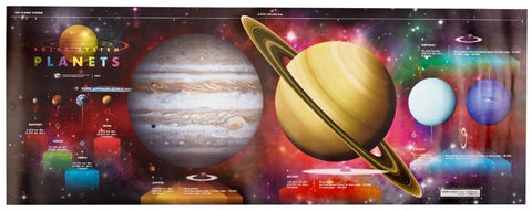 Solar System Planets - Space Science Poster 18x45""