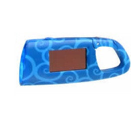 Blue Solar Powered Clip On Infinite Flashlight