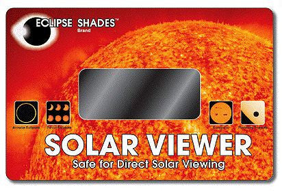 Optical Coated Glass Solar Eclipse and Sun Viewer True Orange Image of Sun CE Certified Safe