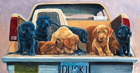 Tailgate Party - Hunting Puppies Jigsaw Puzzle - 500 pc