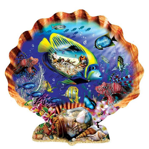Souvenirs of the Sea Shell Shaped Jigsaw Puzzle 1000 Piece