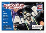 Brictek Space Team - Space Fighter 4 Construction Kit - 80 Pieces