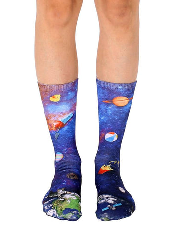 Space Junk Crew Socks OSFM by Living Royal