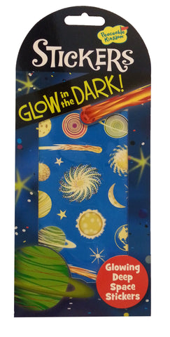 Glowing Deep Space - Glow in the Dark Stickers
