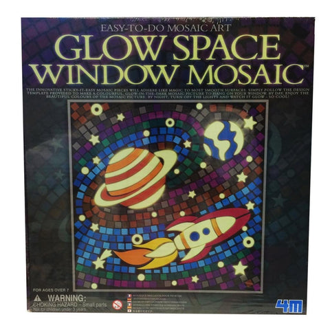 Glow Space Window Mosaic Picture Kit by 4M
