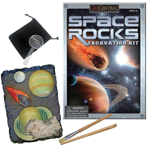Space Rocks Excavation Kit w/5 Specimens