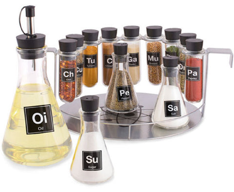 Chemistry Science Spice Rack Set 14 Pieces