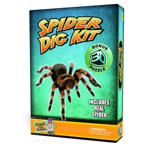 Puzzle Master Spider Dig Kit w 3D Model by Discover w Dr Cool