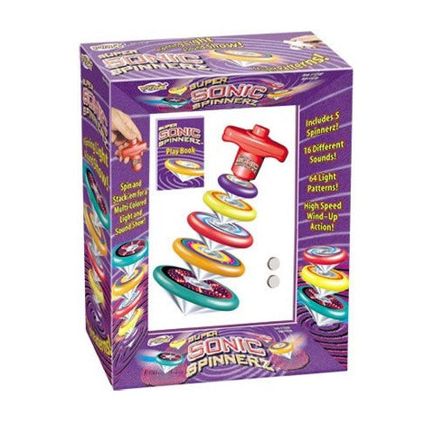 Super Sonic Spinnerz  Spinning Stacking Tops w Sound and Light