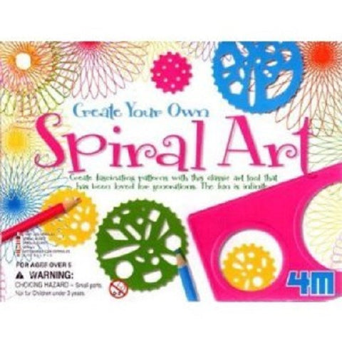 Create Your Own Spiral Art; Kit by 4M: Spiral Graphics