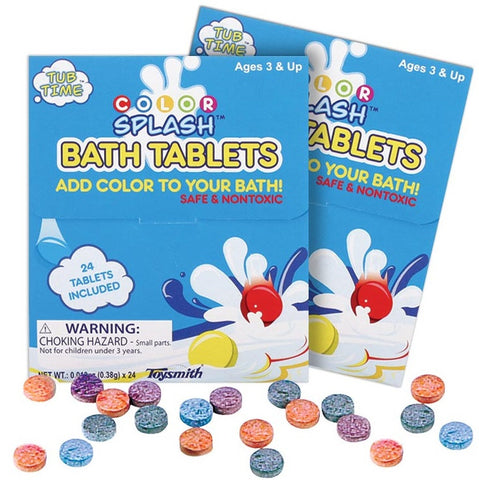 Color Splash Fizzy Tablets for Splash Time Learn Colors 10 Packs