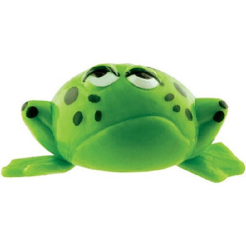 3 Green Frog Splat Ball Toys