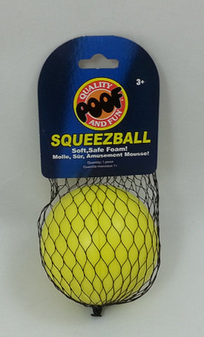 Poof-Slinky SqueezBall - Yellow Soft Foam Ball