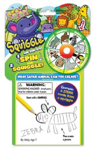 Squiggle On The Go - Safari Edition - Travel Drawing Game for Children