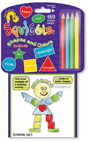 Squiggle Shapes and Colors - Educational Travel Drawing Game for Children