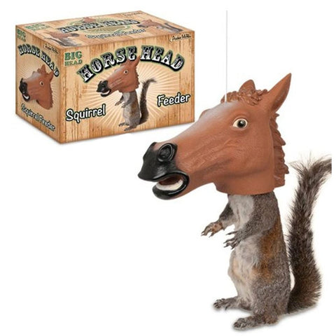 Horse Head Squirrel Feeder By Accoutrements