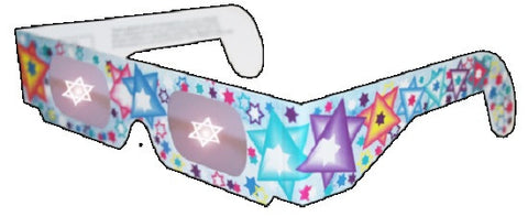 Holographic Glasses: See a STAR of DAVID at Every Bright Point of Light