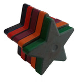 Painted Ceramic Star Shaped Magnets - Pack of 5 Assorted Colors